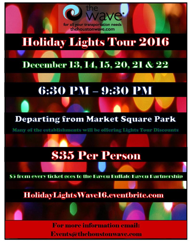 2016 Houston Holiday Lights Tour